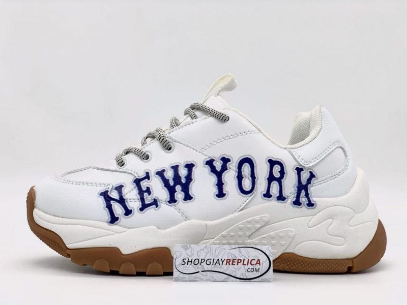 giày MLB New York trắng chữ xanh rep1:1
