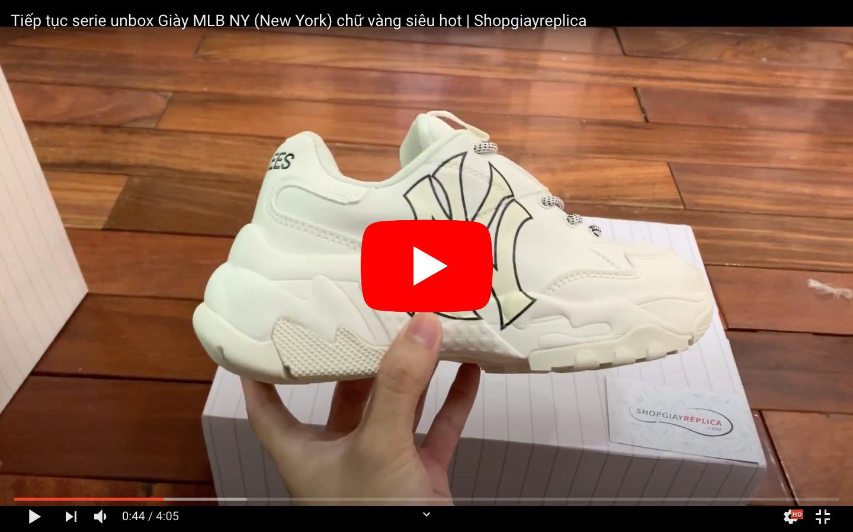 Video unbox giày mlb ny vang