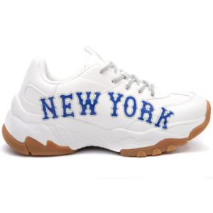 Giày MLB New York trắng chữ xanh replica