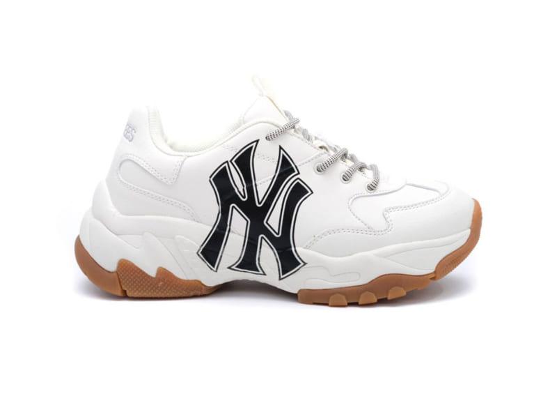 Sneaker MLB NY trắng chữ đen