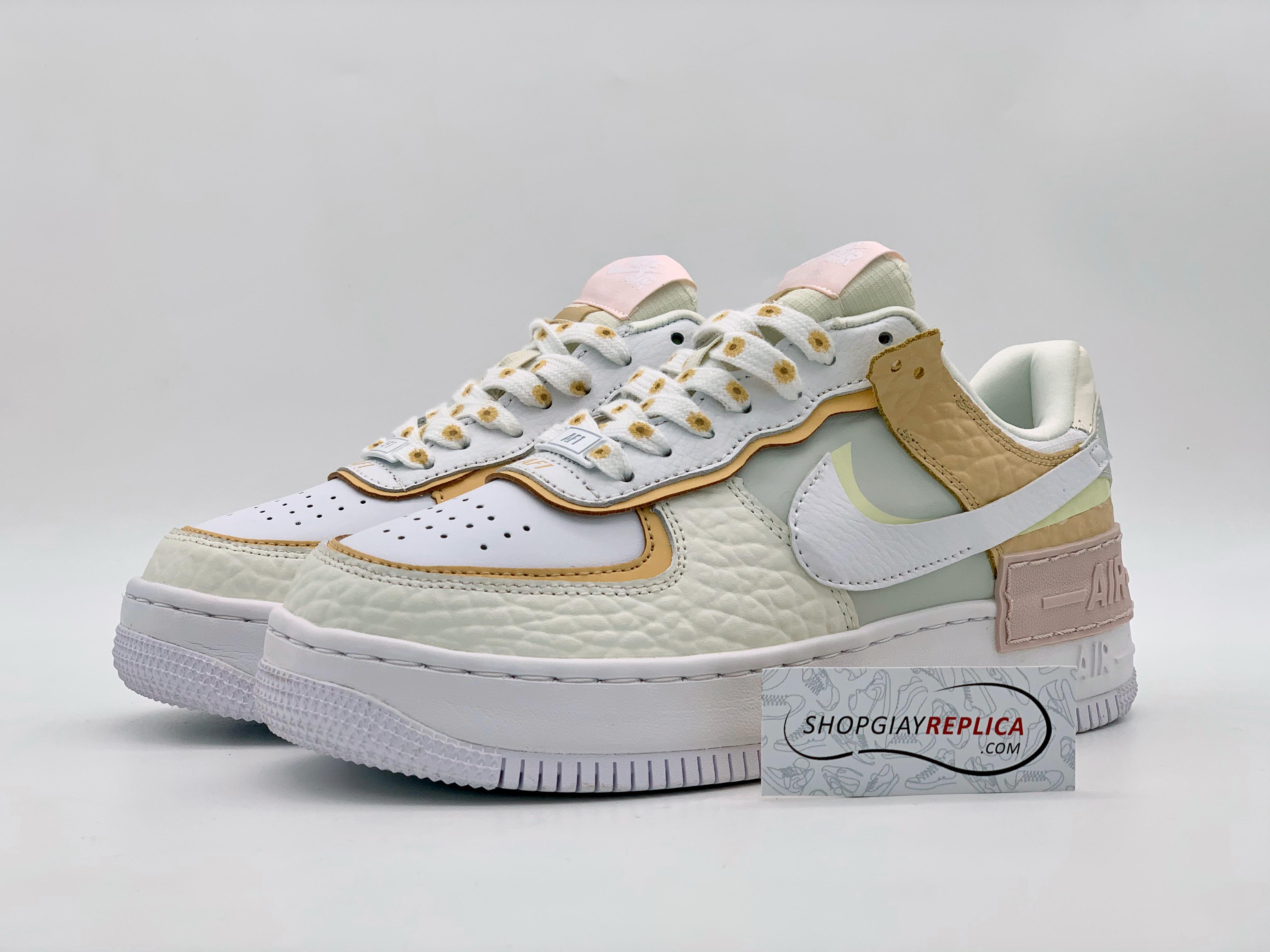 Giày Nike Air Force 1 Shadow 'Daisy' Spruce Aura Replica