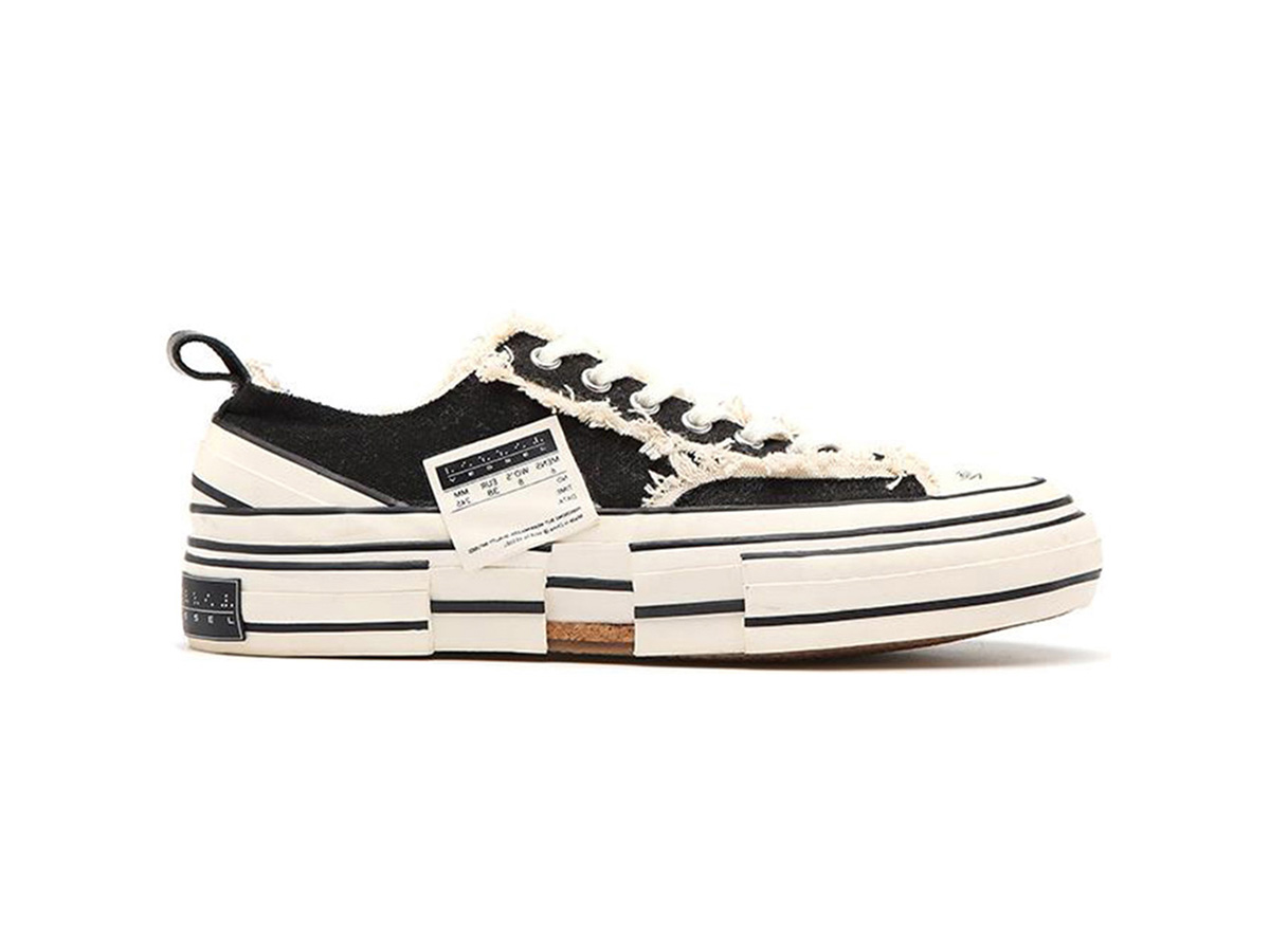 giay xvessel gop low black replica