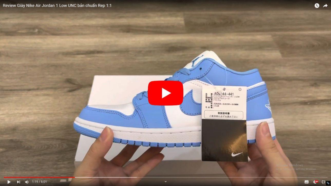 Video Giày Nike Air Jordan 1 Low UNC Rep 1:1
