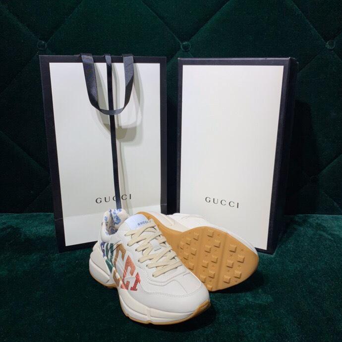 Giày Gucci Chunky logo cầu vồng