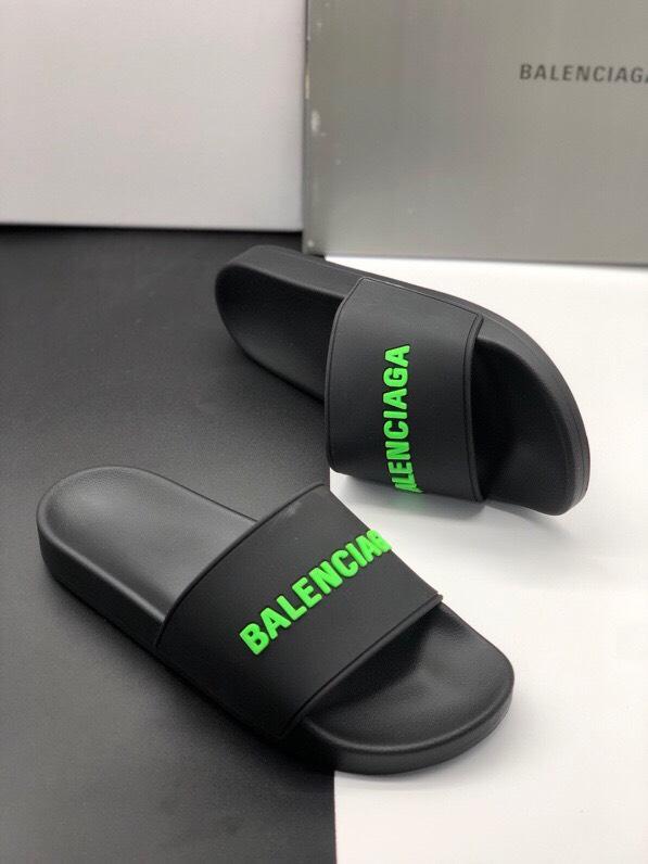 Dép Balenciaga Pool Slide Black Fluo Green Replica