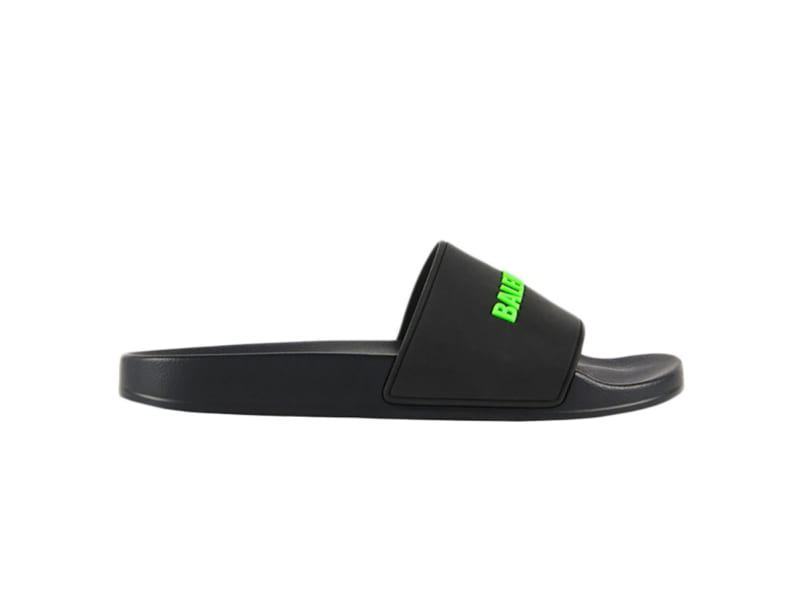Dép Balenciaga Pool Slide Black Fluo Green Replica