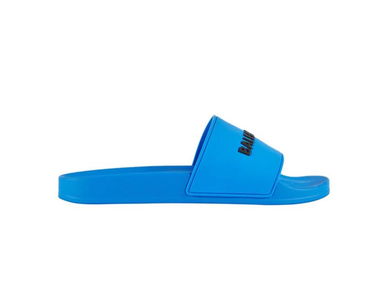 Dép Balenciaga Pool Slide Blue Replica
