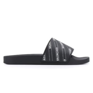 Dép Balenciaga Pool Slide Logo Black Replica