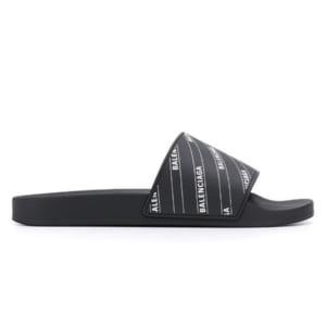 Dép Balenciaga Pool Slide Logo Black Replica