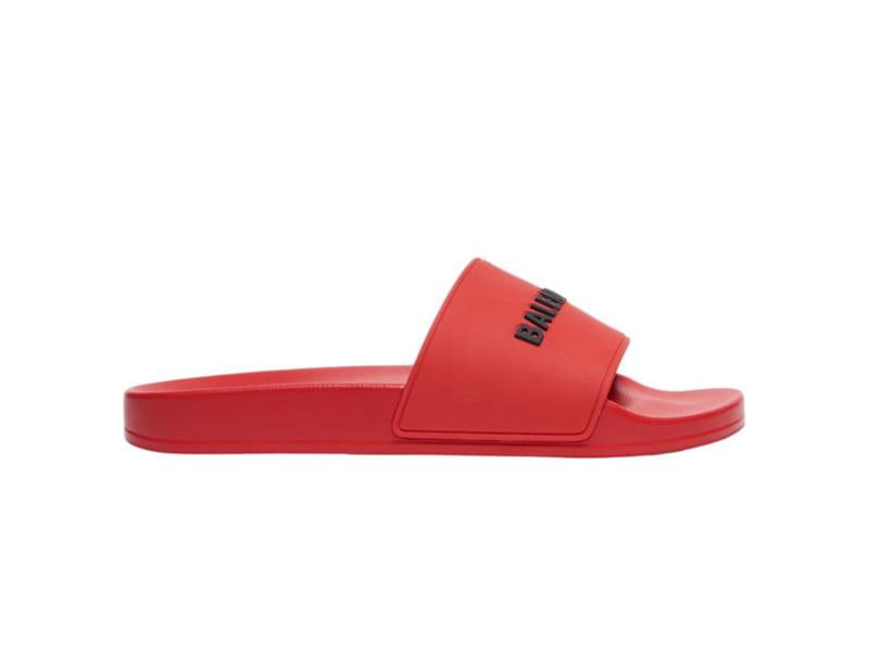 Dép Balenciaga Pool Slide Red Replica
