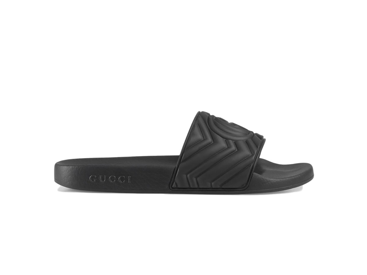 Dép Gucci Matelasse Slide Black Replica