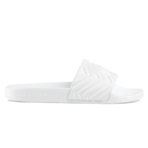 Dép Gucci Matelasse Slide White Replica