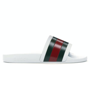 Dép Gucci Pursuit Pool Slides White Replica