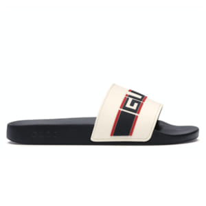 Dép Gucci Stripe Slide White Replica