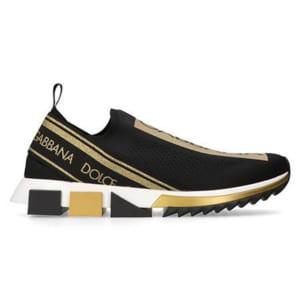Giày Dolce & Gabbana Sorrento Black Gold Siêu Cấp 1:1