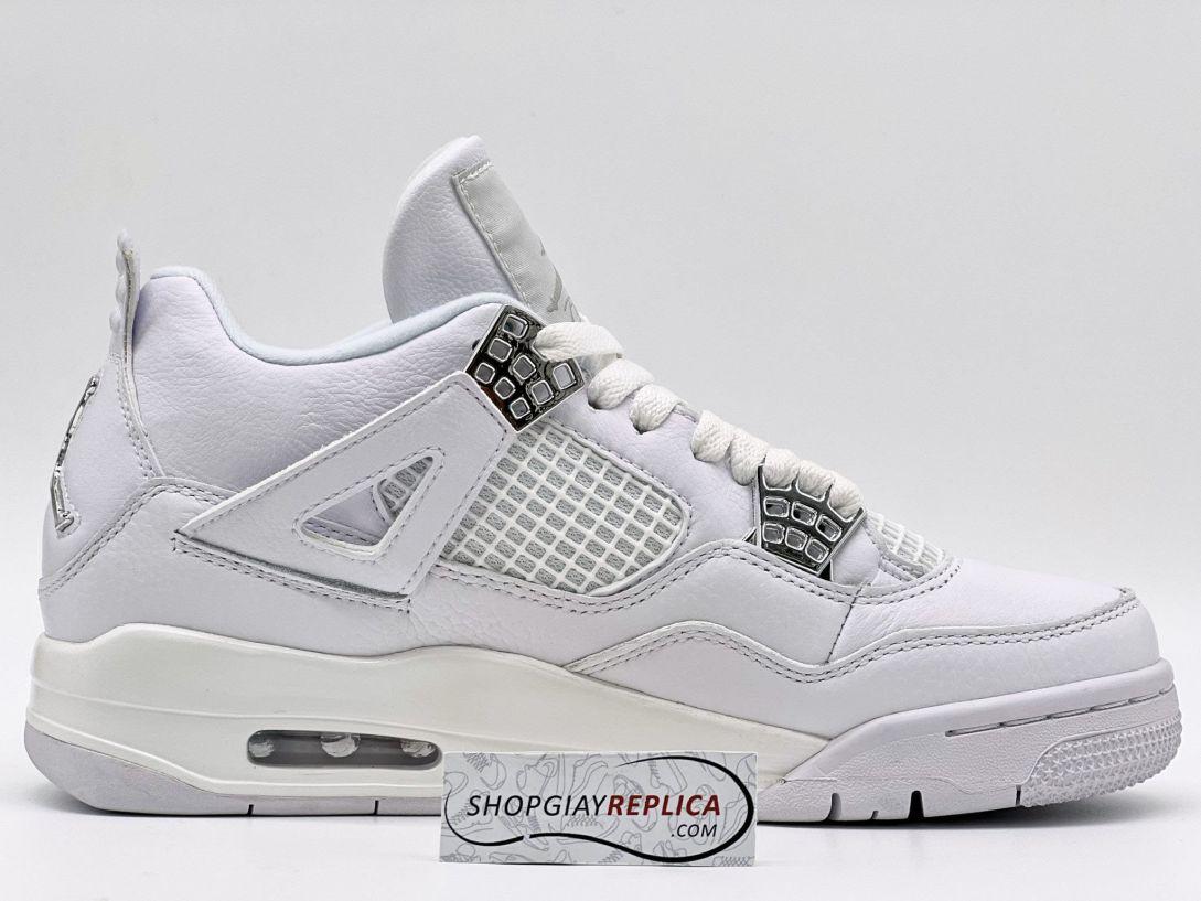 Giày Nike Air Jordan 4 Retro Pure Money (full trắng) 11