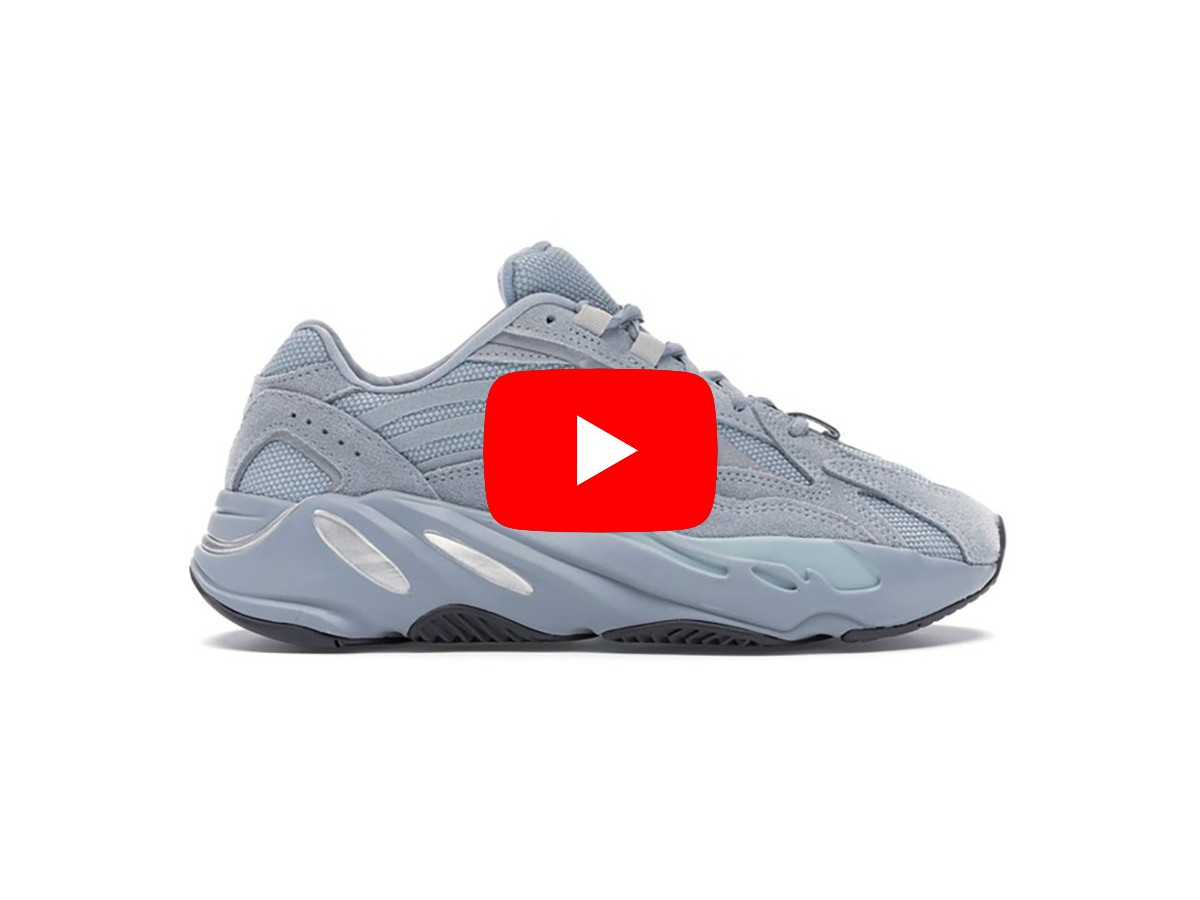 unbox giày yeezy 700 hospital blue rep