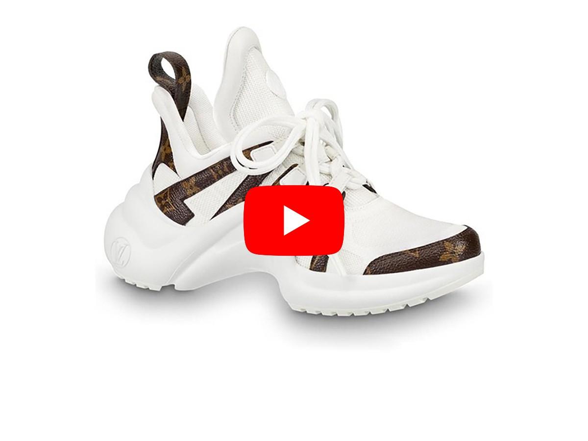 Video Unbox Giày Louis Vuitton Archlight Trainer Monogram White