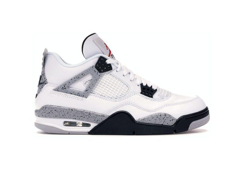 Giày Nike Air Jordan 4 Retro White Cement