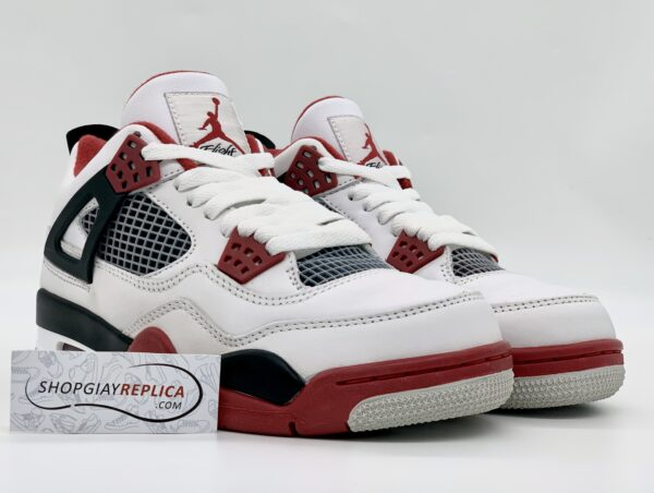Giày Nike Air Jordan 4 Fire Red Replica