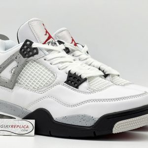 Giày Nike Air Jordan 4 White Cement Replica