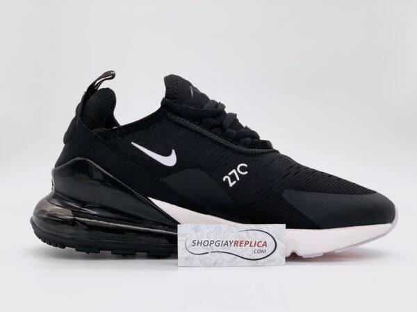 Giày Nike Air Max 270 đen trắng replica