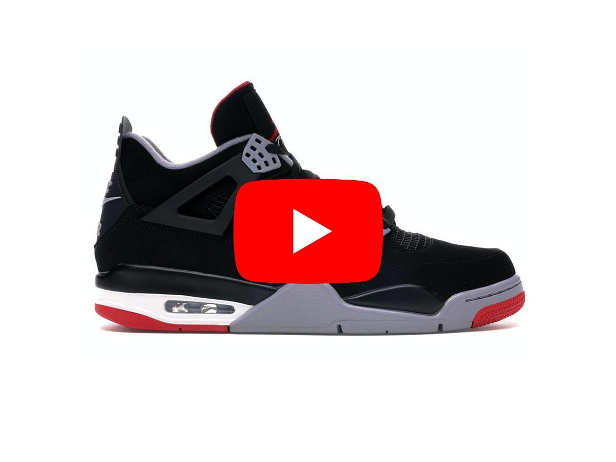 unbox giày nike air jordan 4 đen đế đỏ bred rep