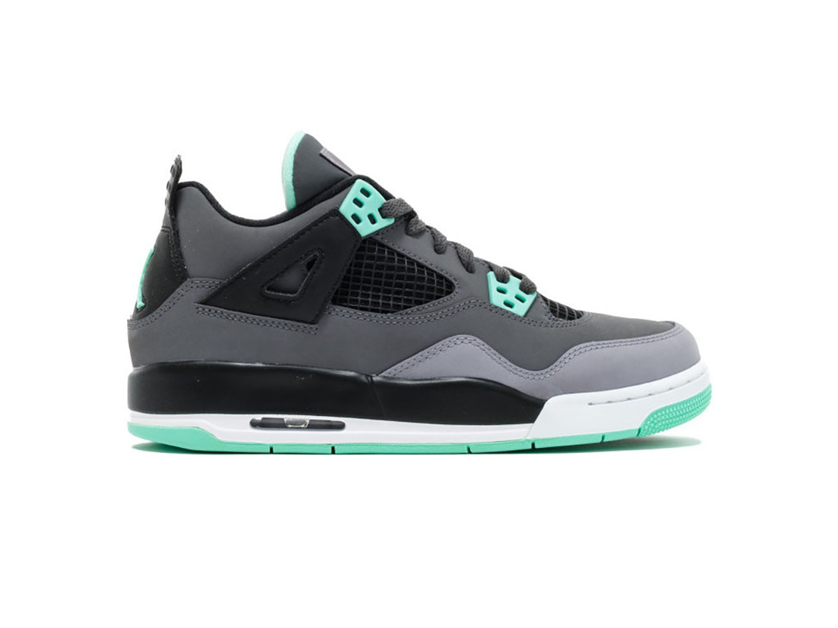 Giày Nike Air Jordan 4 Retro Green Glow Replica