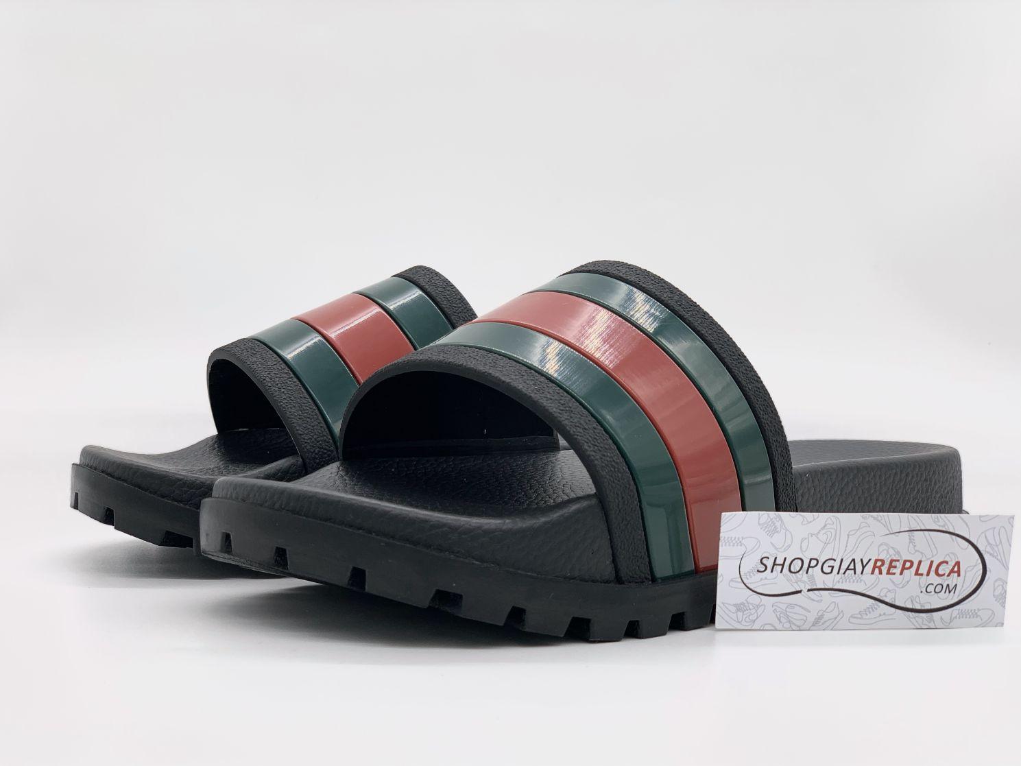 Dép Gucci Web Slide Sandal Black