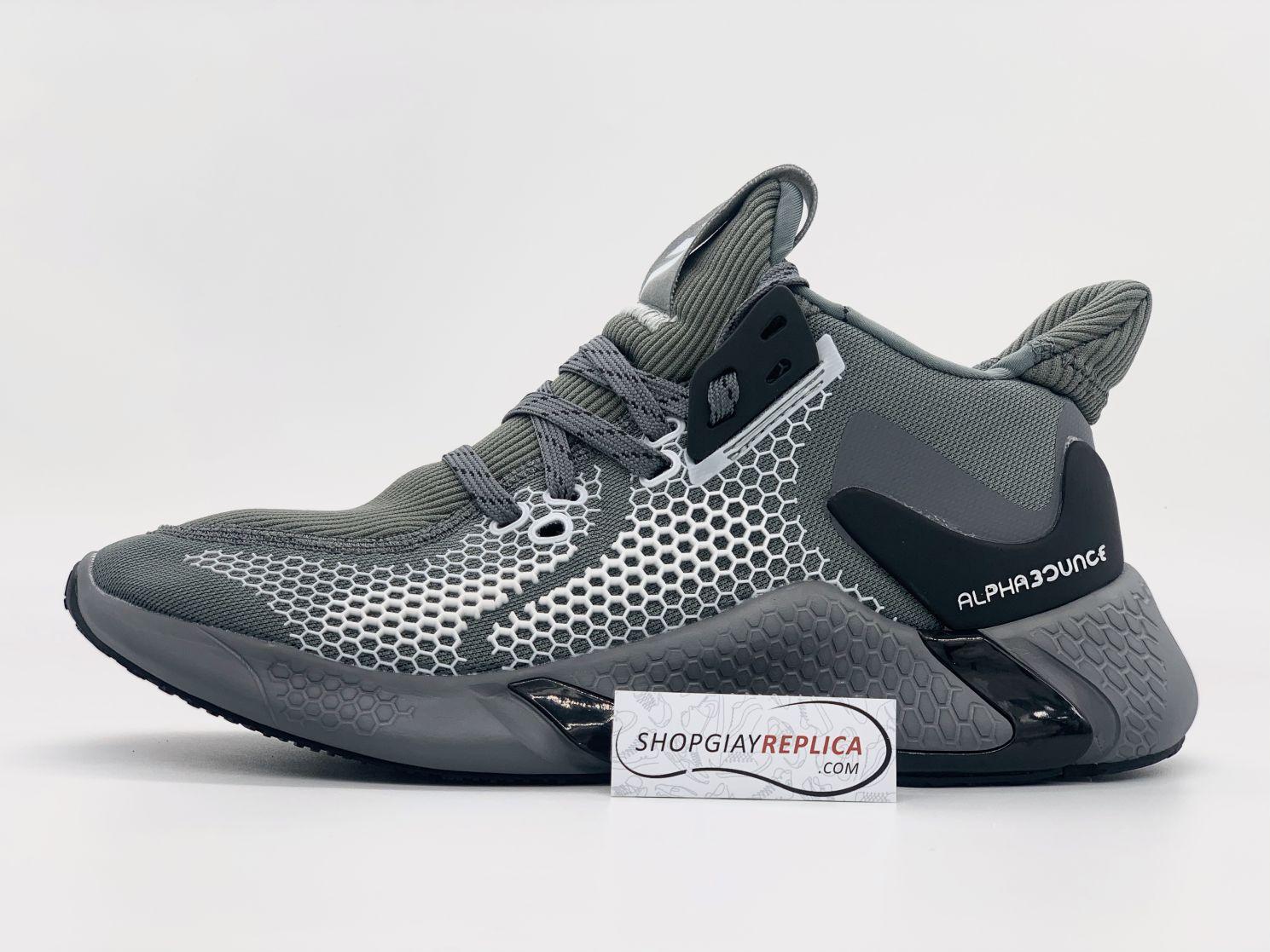 Giày Adidas Alphabounce Instinct M xám bạc Rep 1:1