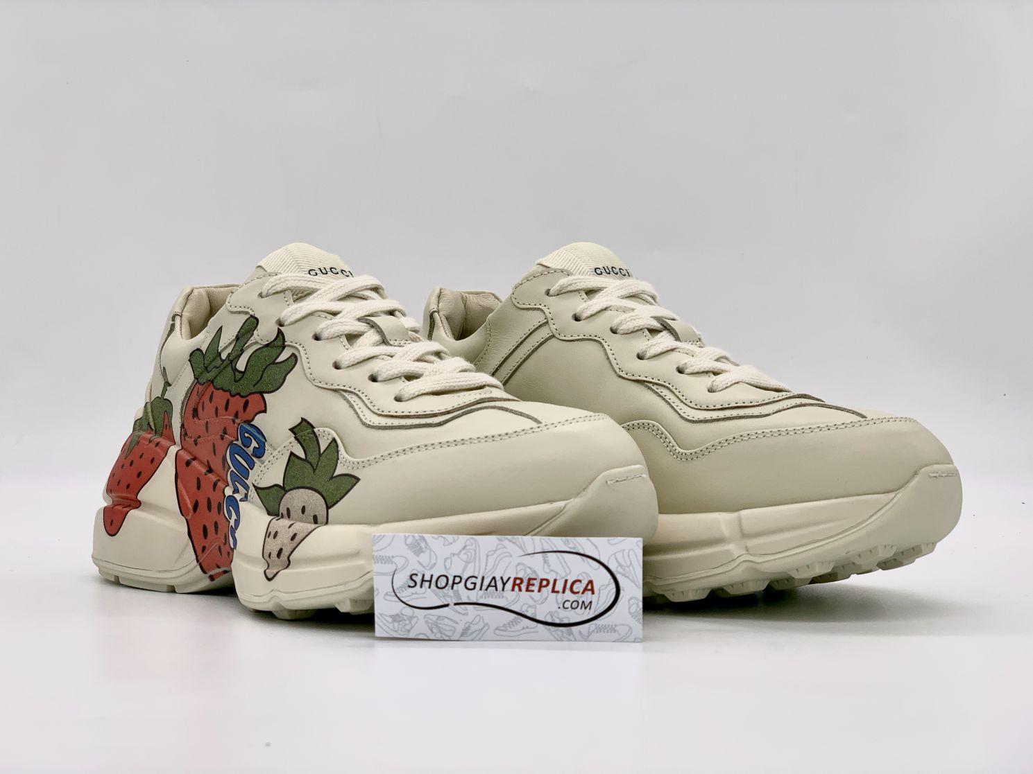 Giày Gucci Rhyton Dâu Tây (Strawberry) Like Auth