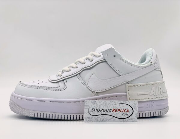 Giày Nike Air Force 1 Shadow Triple White replica