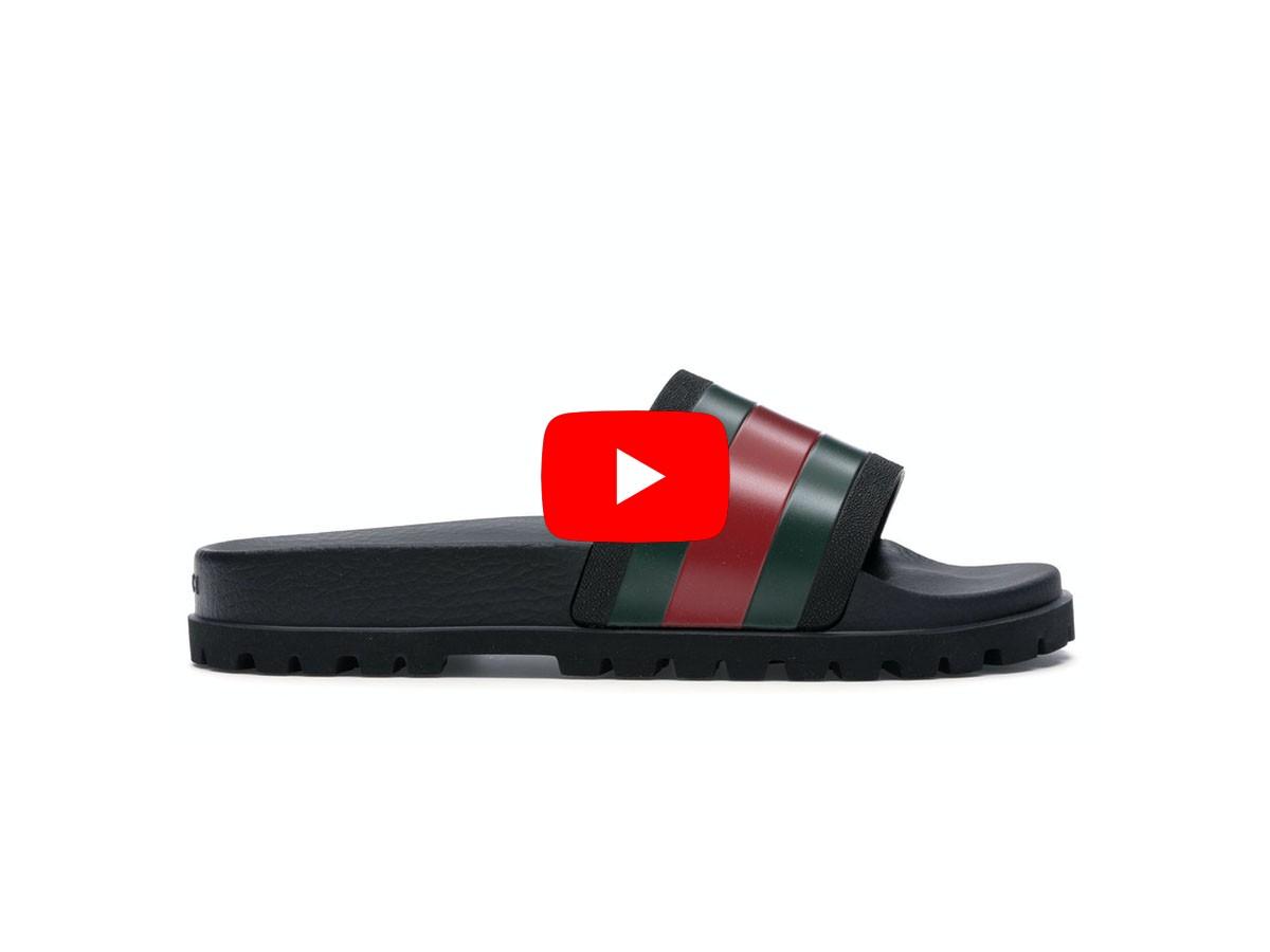 Unbox dép Gucci Web Slide siêu cấp