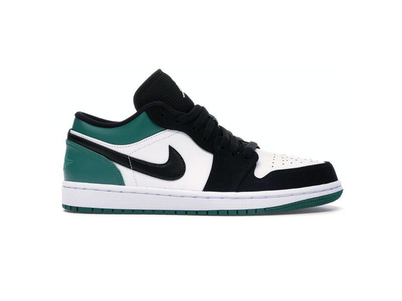 Giày Nike Air Jordan 1 Low White Black Mystic Green replica