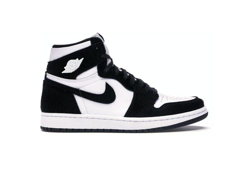 Giày Nike Air Jordan 1 Retro High Black White replica