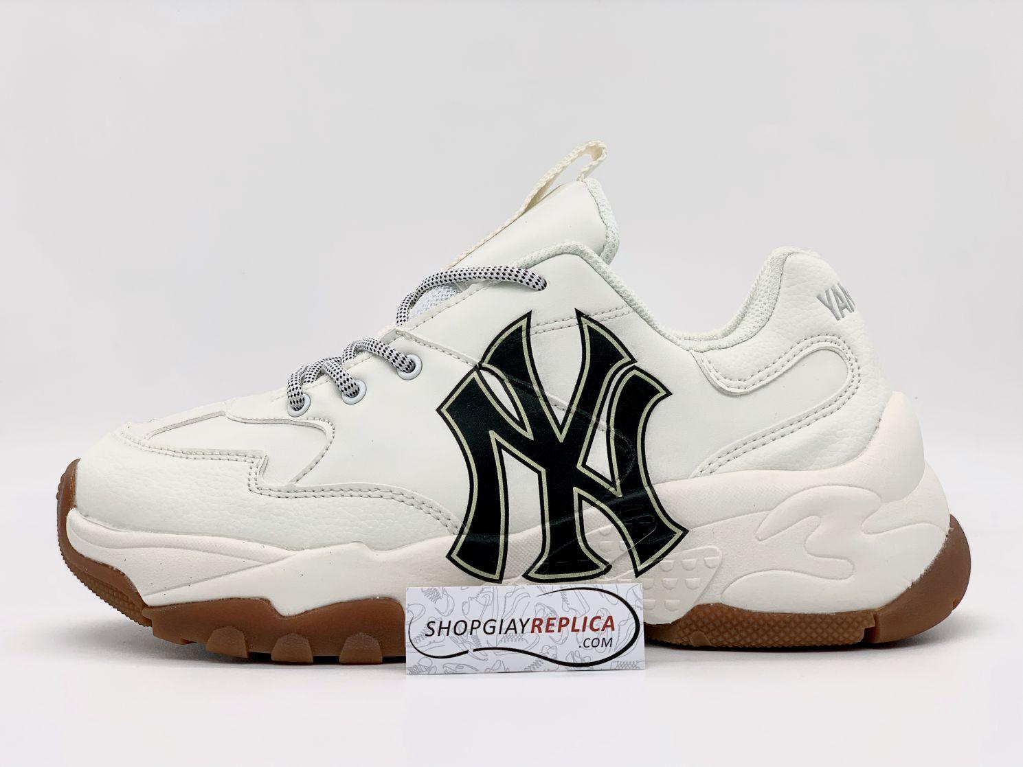 Giày MLB NY trắng chữ đen rep 1:1