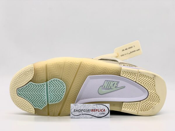 Giày Nike Air Jordan 4 Retro Off-White Sail replica