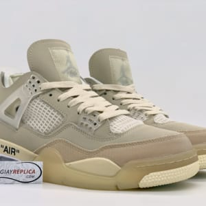 Giày Nike Air Jordan 4 Retro Off-White Sail replica