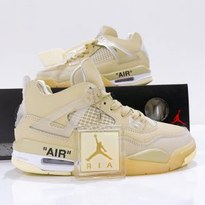 Giày Nike Air Jordan 4 Retro Off White Sail Rep11