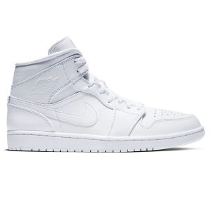 Giày Nike Air Jordan 1 Mid Triple White replica