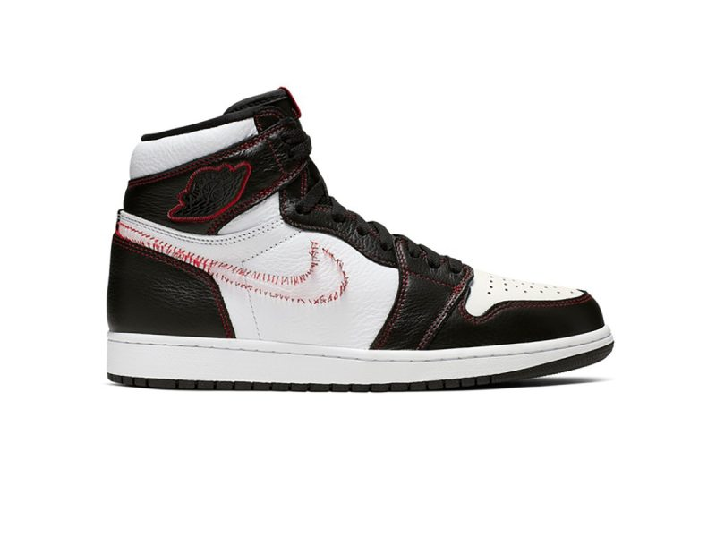 Nike Air Jordan 1 Retro High Defiant White Black Gym Red replica