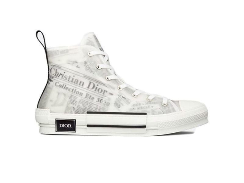 Dior B23 High Top Daniel Asham Newspaper siêu cấp