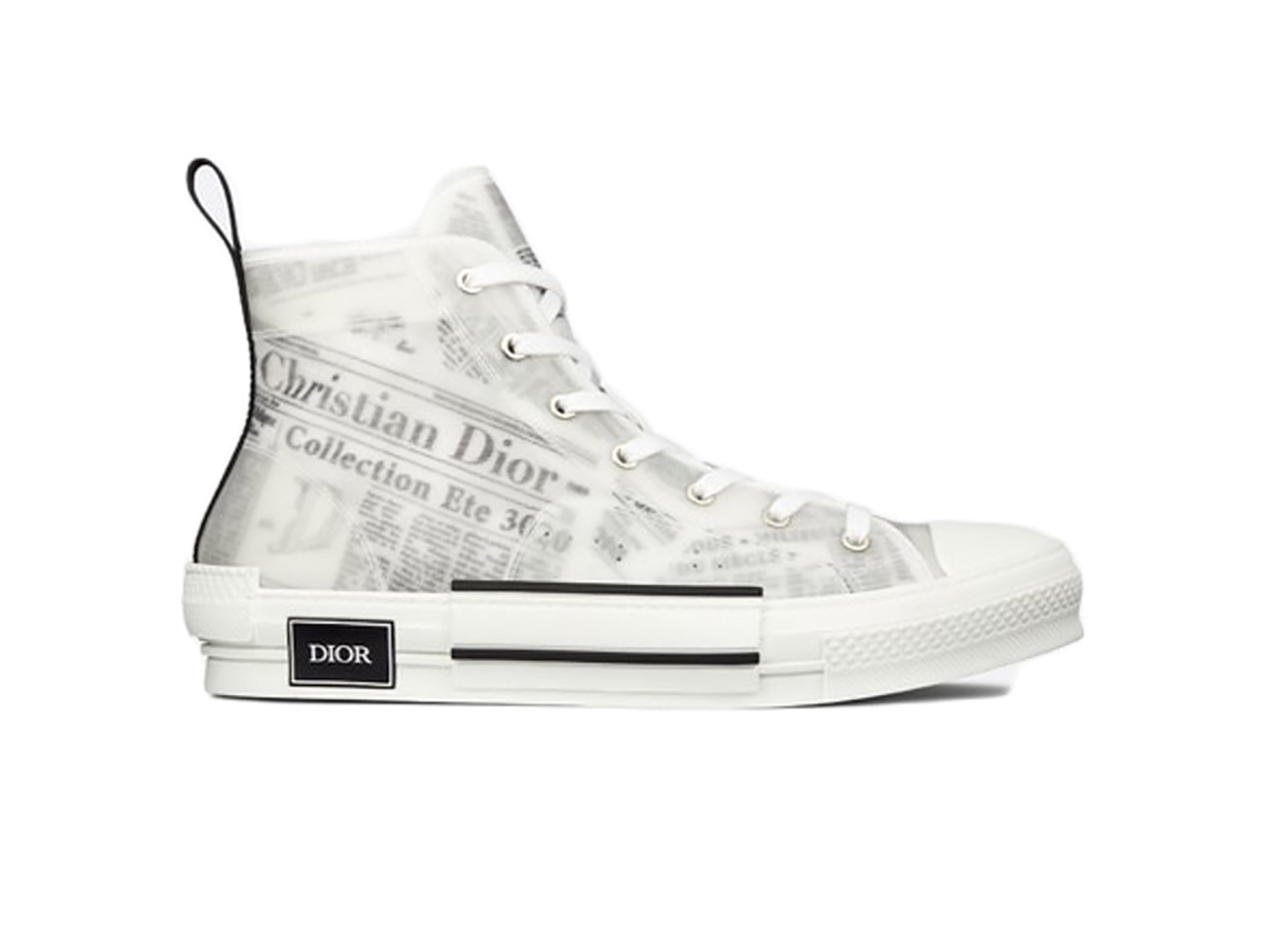 Giày Dior B23 High Top Daniel Arsham Newspaper siêu cấp