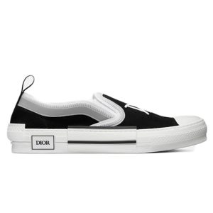 Dior And Shawn B23 Slip On Black siêu cấp
