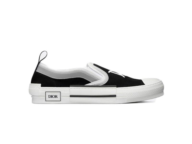 Dior And Shawn B23 Slip On Black siêu cấp