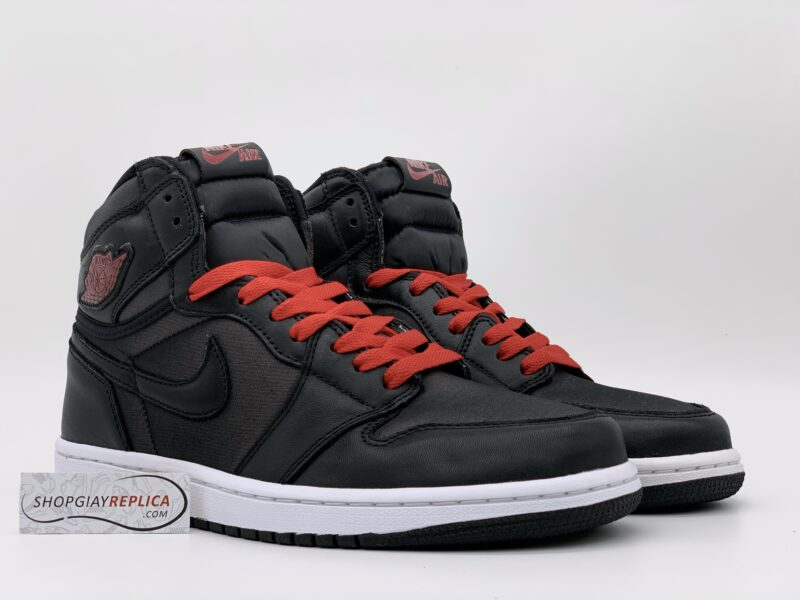 Giày Nike Air Jordan 1 Retro High Black Gym Red Black replica