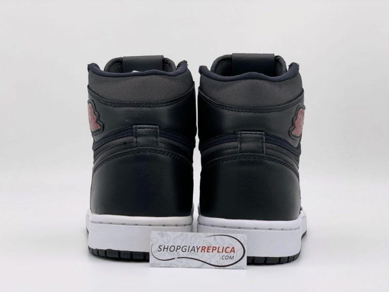 Giày Nike Air Jordan 1 Retro High Black Satin Gym Red