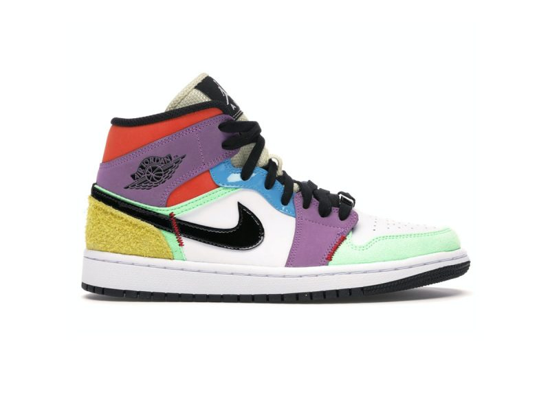 Giày Nike Air Jordan 1 Mid SE Multi Color replica