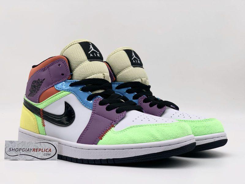 giày Nike Jordan 1 Mid SE Multi Color Replica
