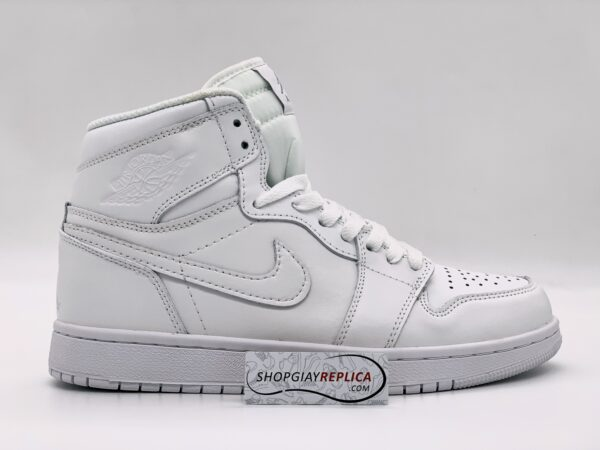 Giày Nike Air Jordan 1 Mid Triple White replica